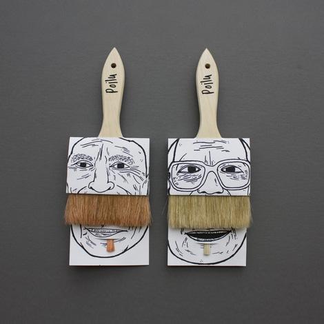 Poilu paintbrush packaging