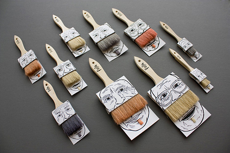 Poilu paintbrush packaging