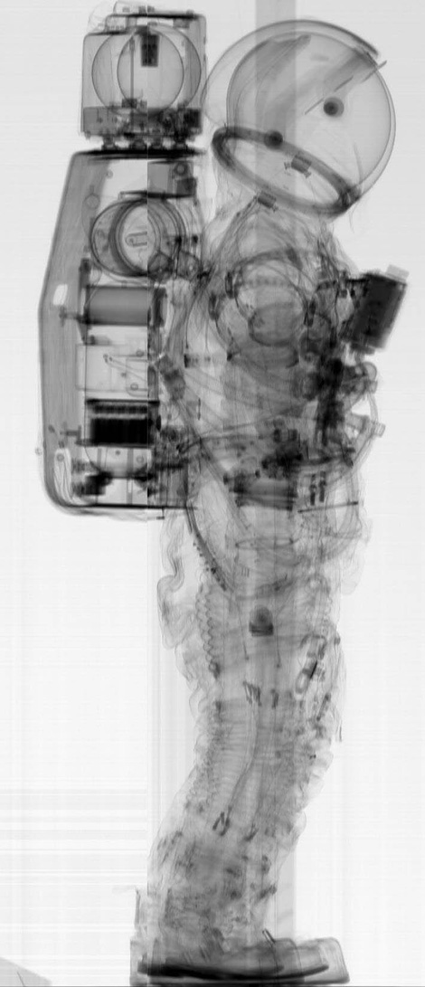 NASA A7L spacesuit pre-flight CT scan