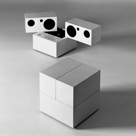 Brionvega Totem stereo system