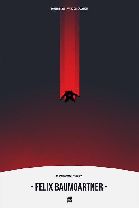 Stephen Calvillo: Felix Baumgartner poster
