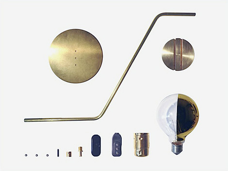 Simple brass lamps