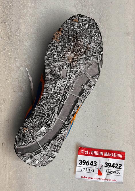Reflex Spray London Marathon ad