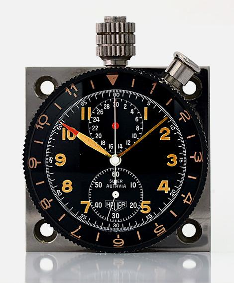Heuer Super Autavia dashboard chronograph