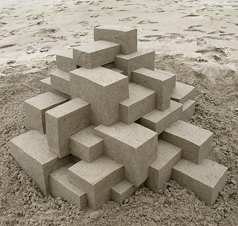 Geometric sandcastles