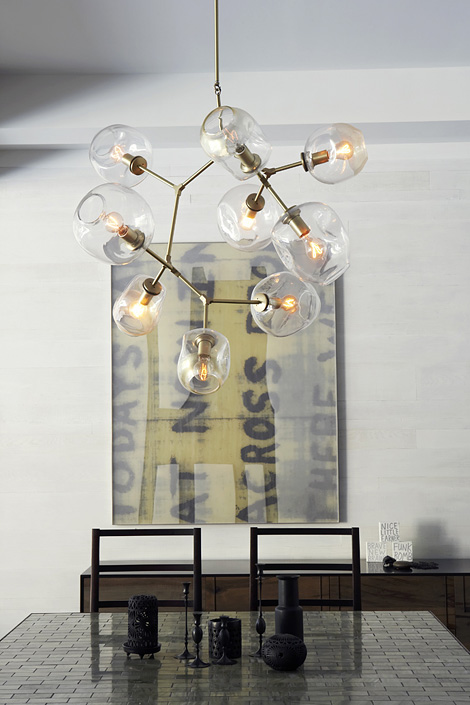 9 globe branching bubble lamp