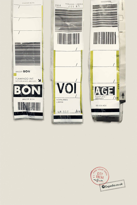 Expedia baggage tags ad