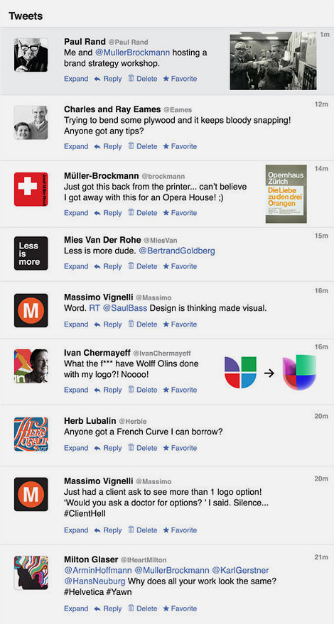 Designer tweets