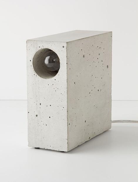 Beton concrete lamp