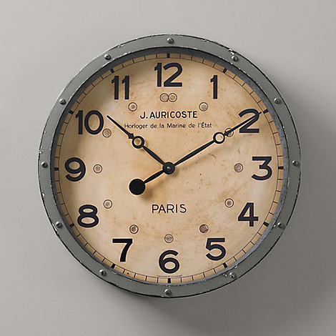 French Naval Clock