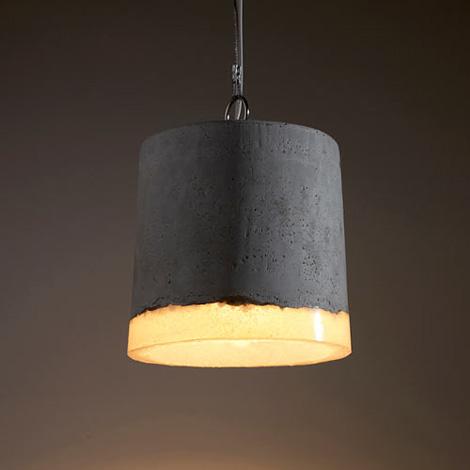 Concrete Bin lamp