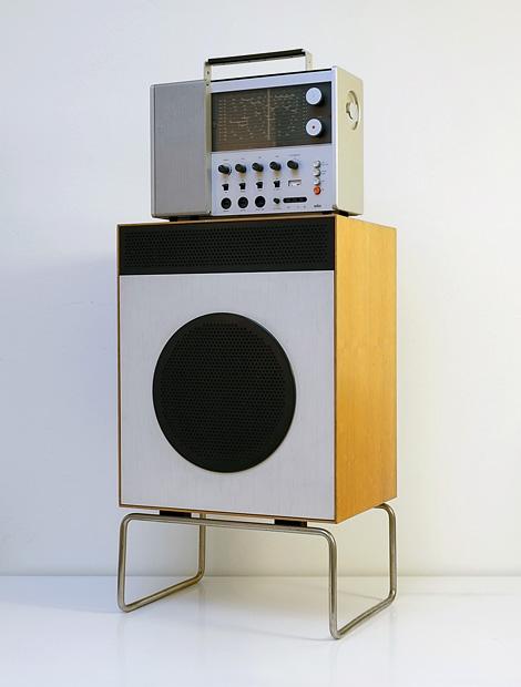 Braun L2 loudspeaker with Braun T1000 receiver
