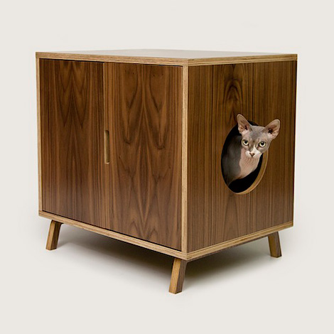 Modernist cat litter box