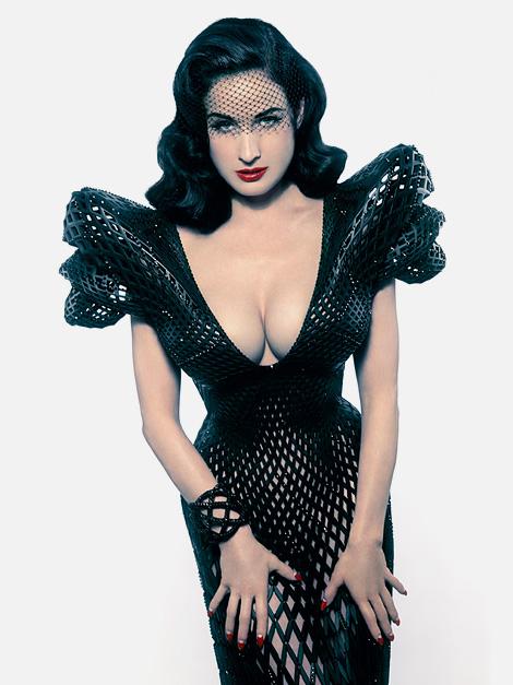 Dita von Teese Fibbonaci gown