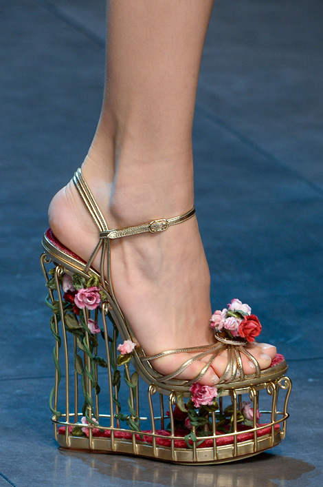 Flower cage shoe