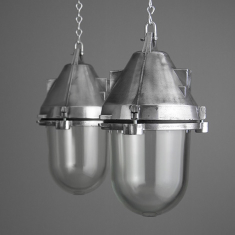 Eastern Bloc factory pendant lamps
