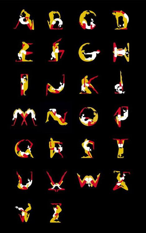 Kama Sutra alphabet