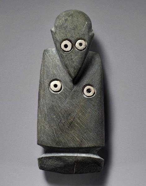 Ancient siltstone tag figure