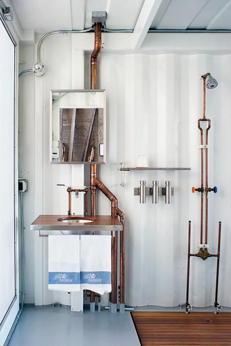 Exposed plumbing