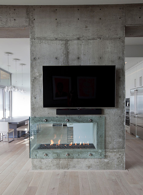 Burnaby residence fireplace