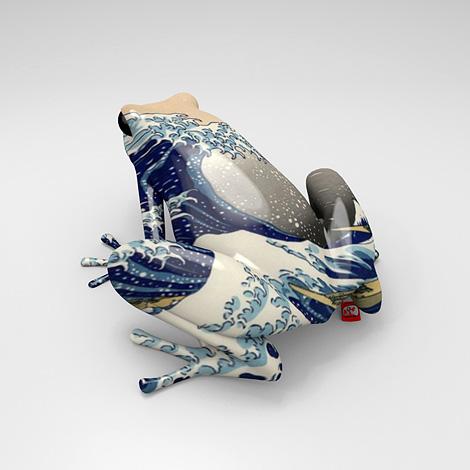 Hokusai frog