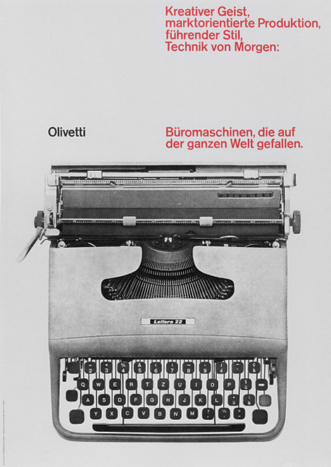 Ernst Hiestand: Olivetti poster
