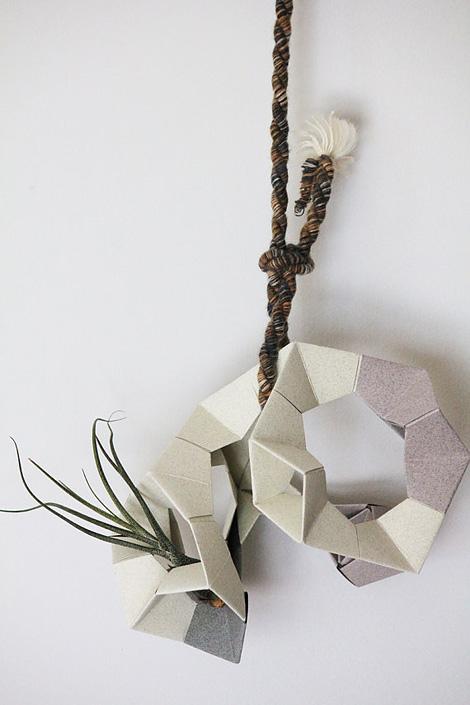 Geometric 3D paper planter