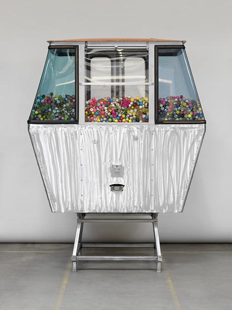 Cable car gondola gumball vending machine