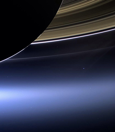 Planet Earth via Saturn