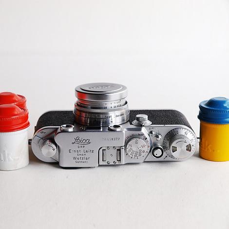 Leica & film cans
