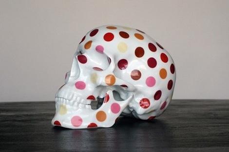 Polka dot skull