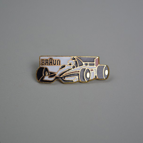 Braun F1 lapel pin
