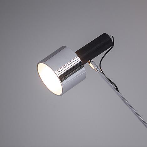 Chrome adjustable floor lamp