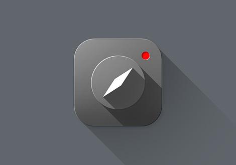 Long shadow iOS 7