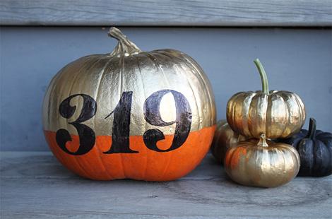 No-carve typographic pumpkins