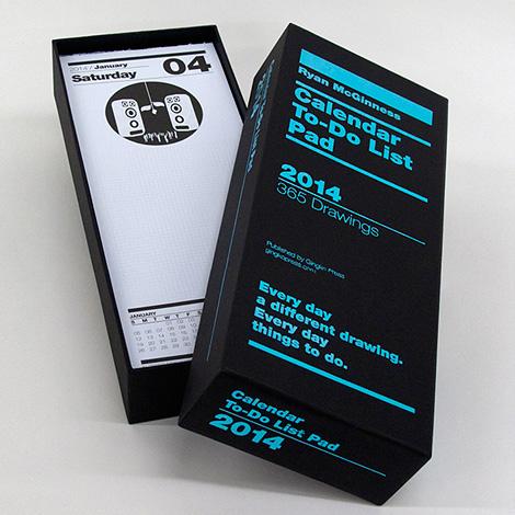 Calendar to-do list pad 2014