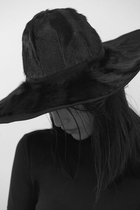 Girl in a rabbit fur hat