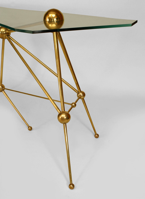 Fedele Papagni brass console