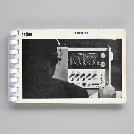 Braun T 1000 CD instruction book
