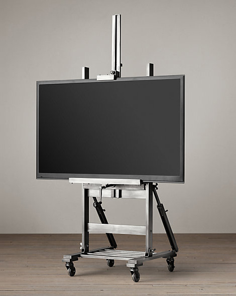 Gunmetal TV easel