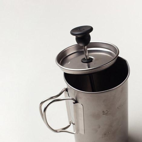 Titanium french press coffee maker