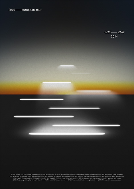 Loscil tour poster