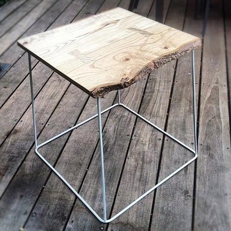 Raw wood coffee table