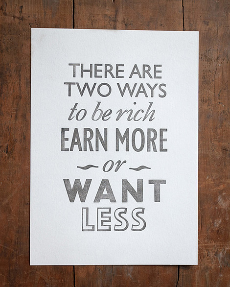 Want less