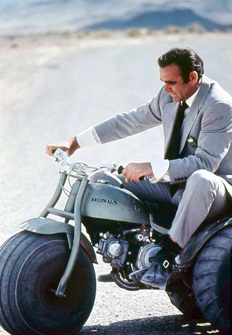 Bond on a Honda