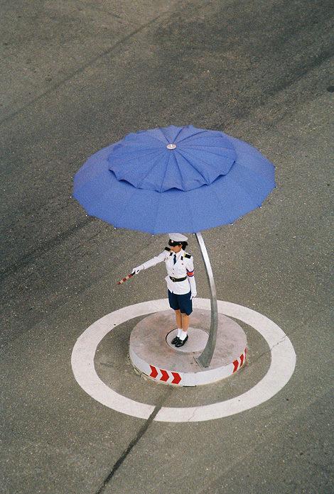 Pyongyang traffic girl