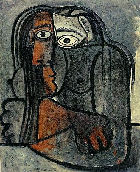 Pablo Picasso: nu les bras croises