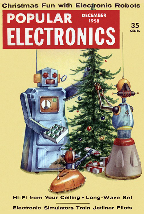 Christmas fun with electronic robots