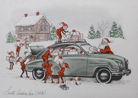 Santa's SAAB 93