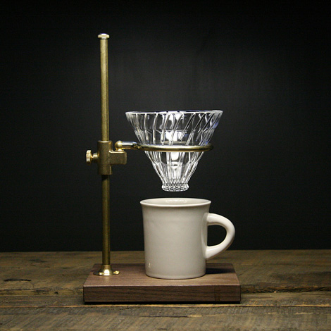 Clerk pour over coffee stand